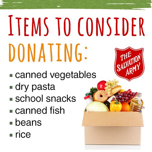The Salvation Army On Twitter In The Summer Food Bank Use
