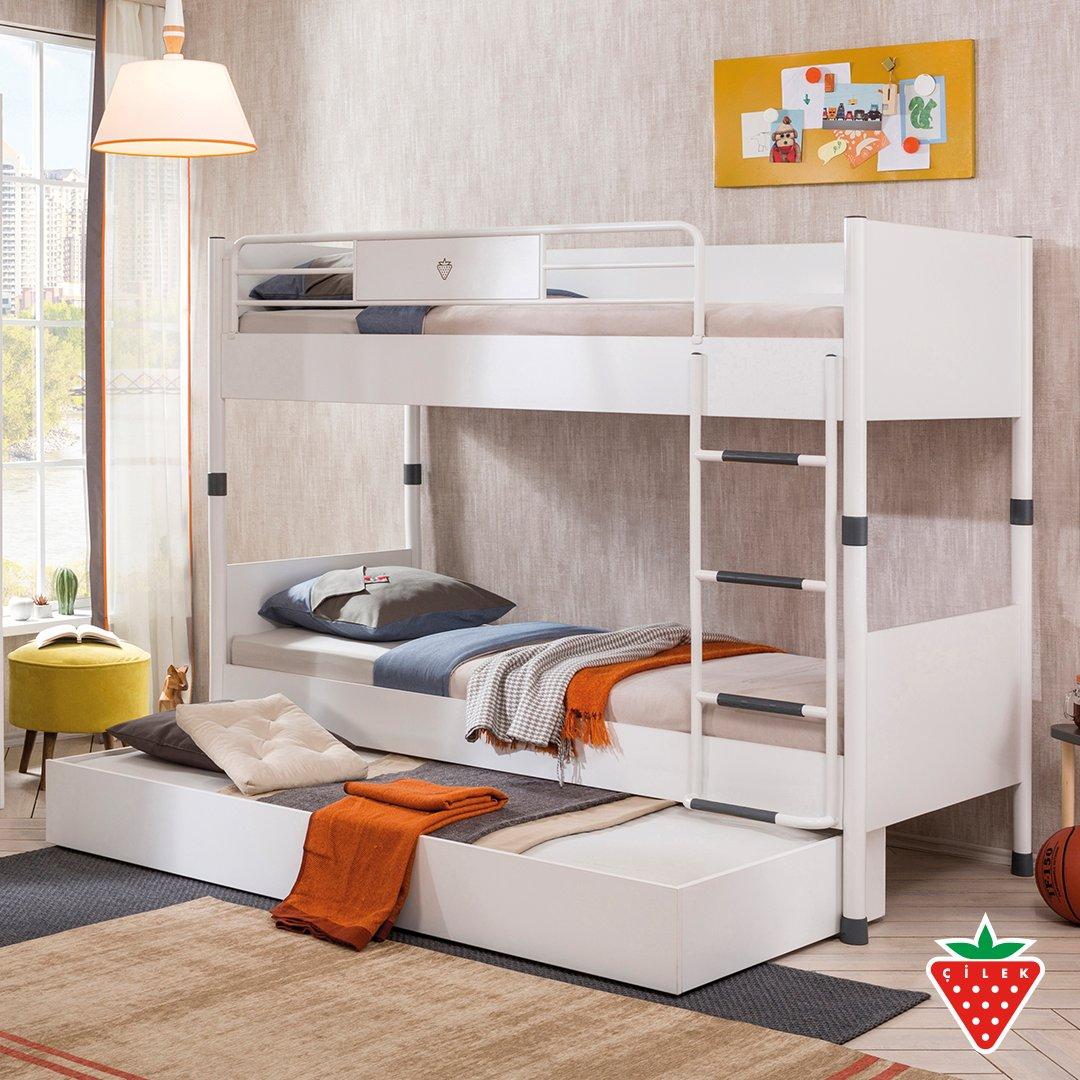 You can add friend's bed under White Bank Bed. #cilekroom #teenroom   https://t.co/ZBe3uabRXy https://t.co/1kSd5eBRsp
