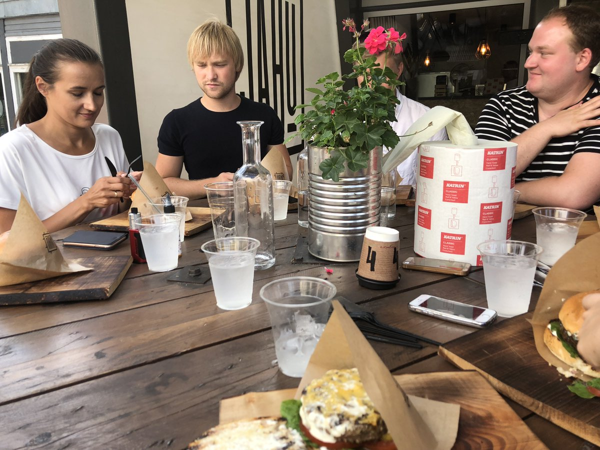 08d9d1763fe ... lunch with our team in Jahu Tänavagurmee. Good food, good weather and  most of all good company. We are so proud to have such a strong team  @GuestJoy !