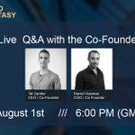 Image for the Tweet beginning: Join Live Q&A on Telegram
