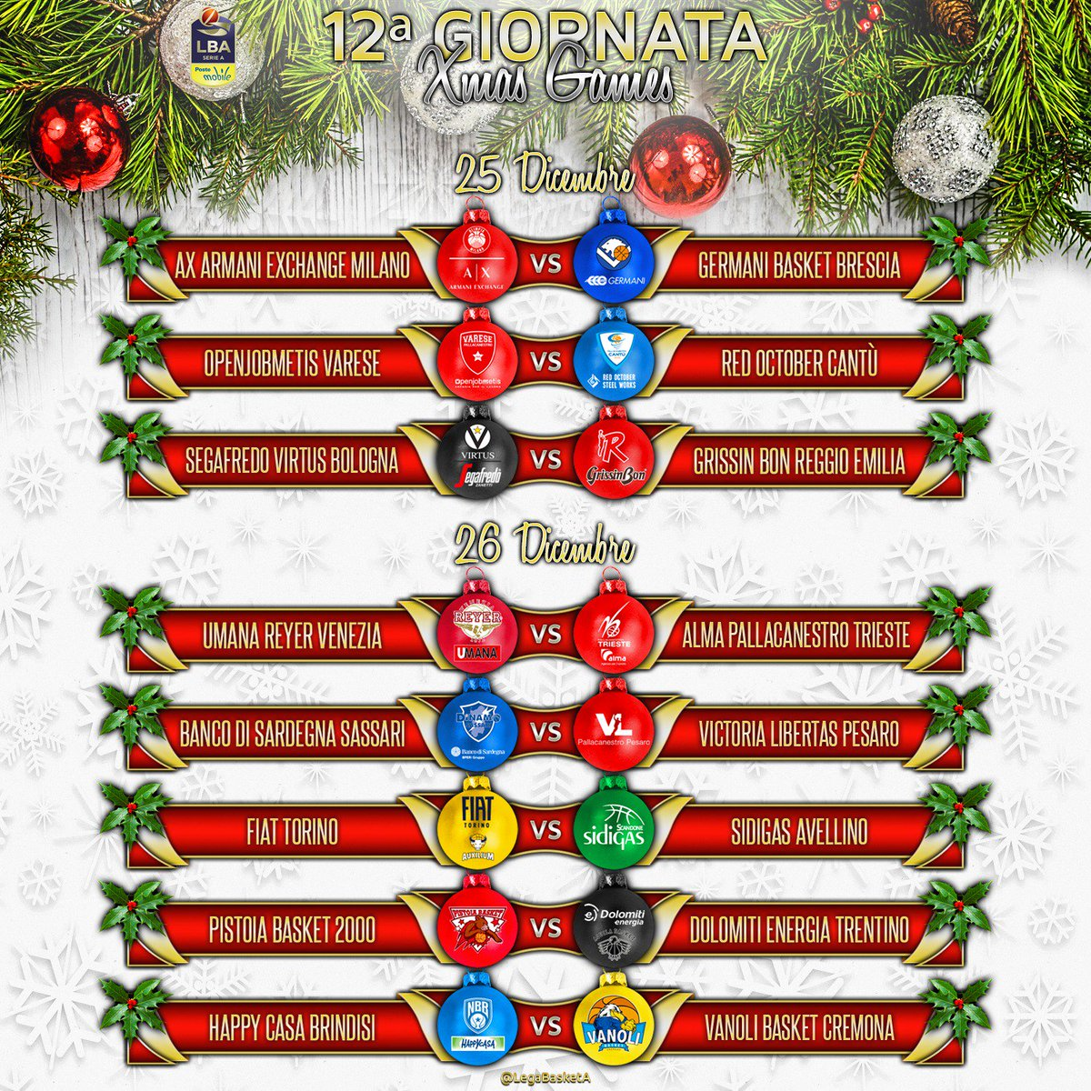 Calendario Legabasket.Il Calendario Di Lba 2018 19 E Ora Disponibile