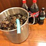 一度はやってみたい?キンキンに冷えたコーラをバケツいっぱいにして飲む!