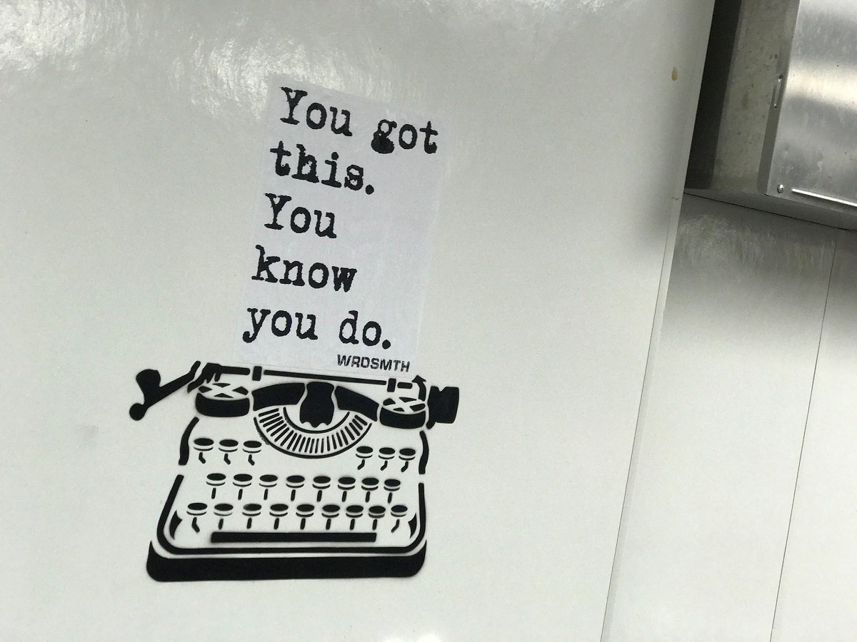 We love this cross over of writing & street art from @WRDSMTH. Inspirational quotes hidden in various places and most recently his collab with @virginhotelschi. Such a nice way to get motivated #motivation #inspiration #streetart #caringquotes #yougotthis Check out his insta<br>http://pic.twitter.com/ulGab2N7Ci