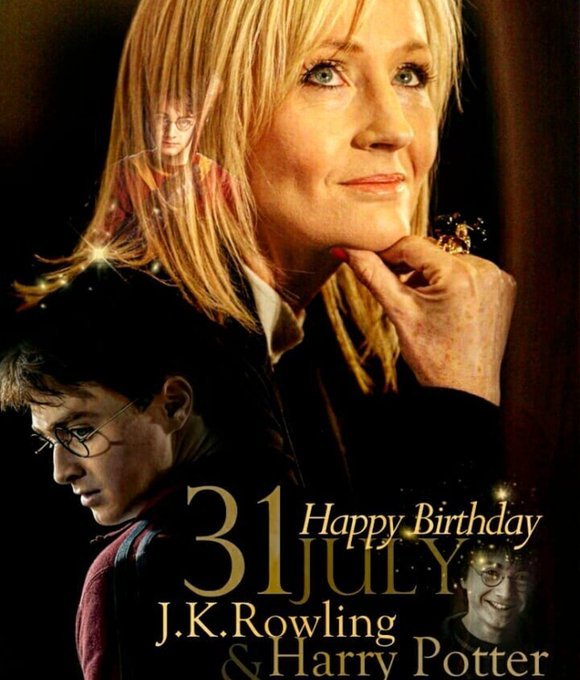 Happy birthday to the magical J.K. Rowling & Harry Potter