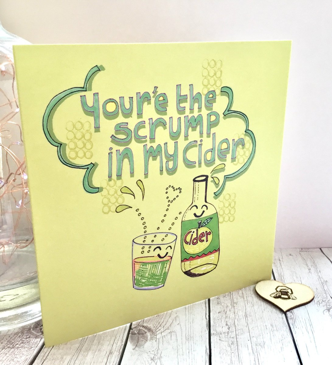 Slumbermonkey Design On Twitter Anniversary Card For Him Cider