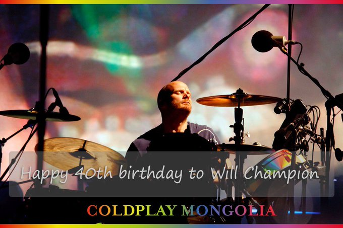 Happy 40th birthday to talented musician Will Champion!