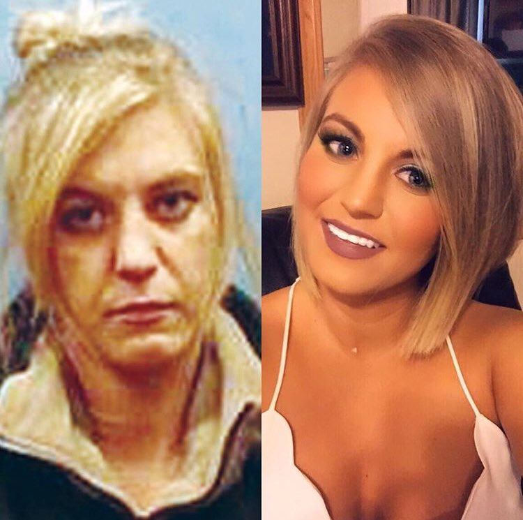 Look at that transformation! 2 years sober! Congrats, Brittney!