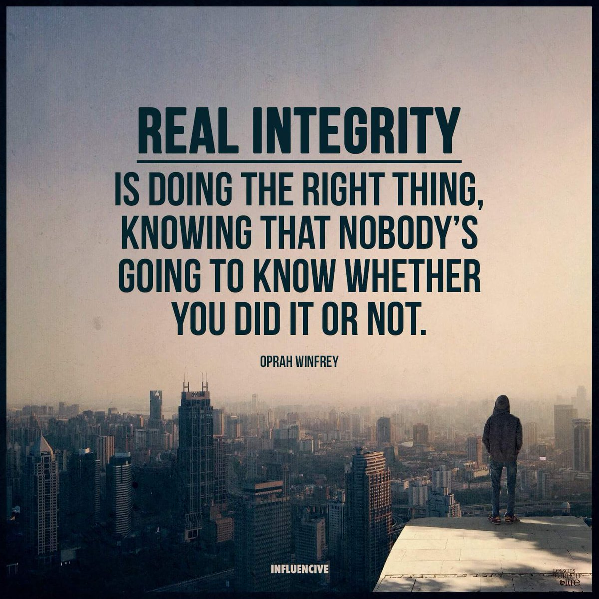 Benny Christian On Twitter Real Integrity Is Doing The Right Thing