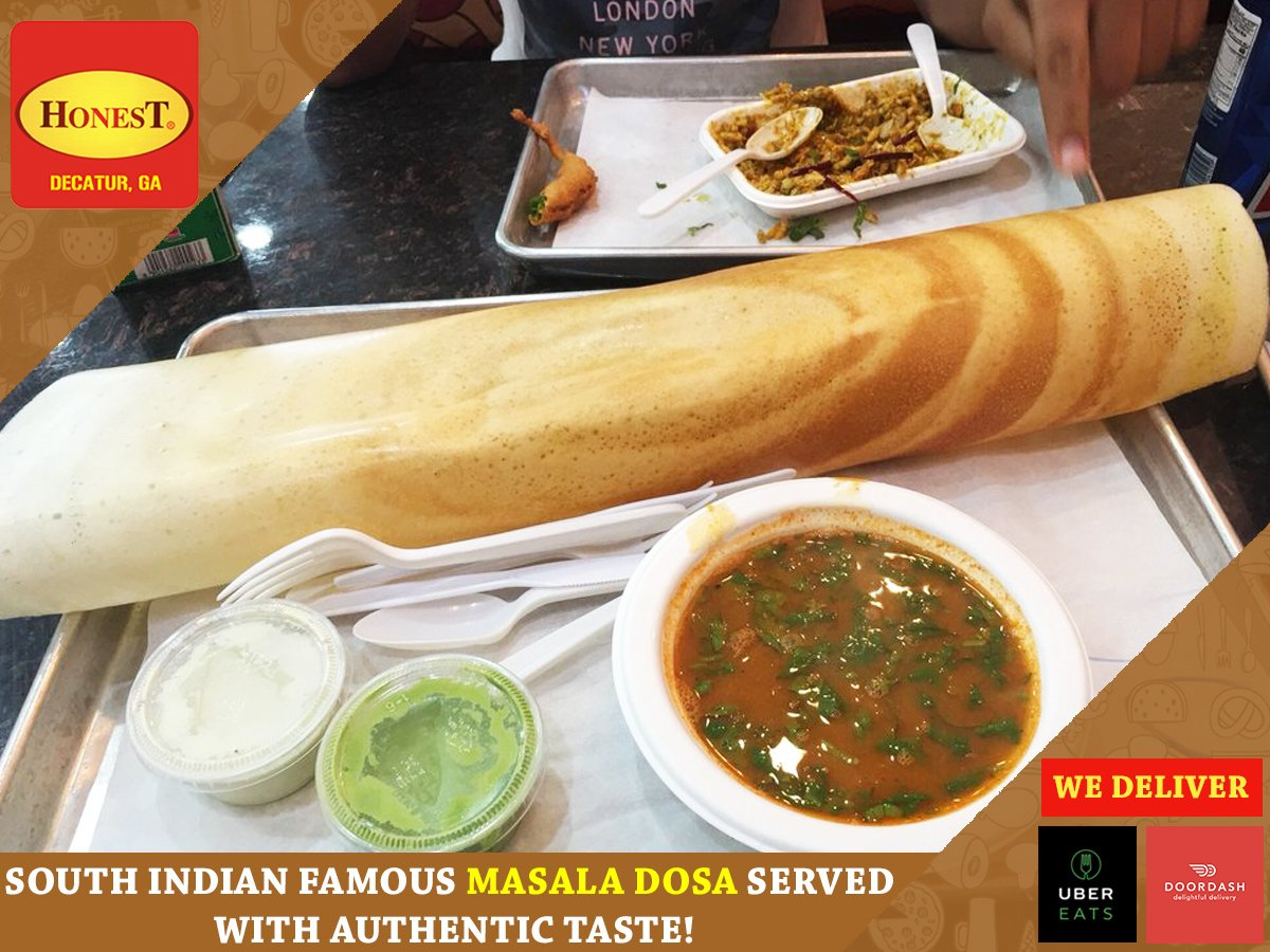 Honest Indian Restaurant On Twitter Hot Y Authentic South Special Masala Dosa Enjoy The Gourmet With Varieties