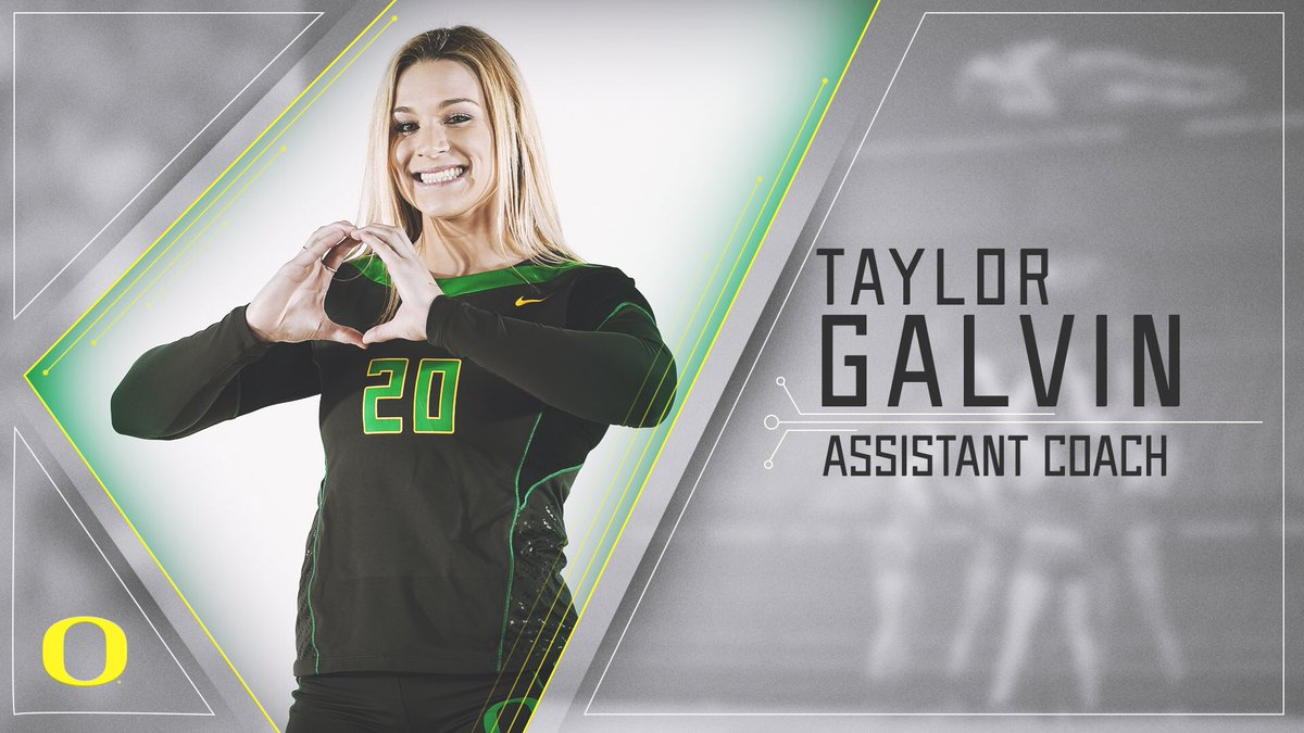 We're excited to have recent graduate and three-time All-American Taylor Galvin (@tgalv8) join our coaching staff! #GoDucks   RELEASE » https://bit.ly/2Azc334