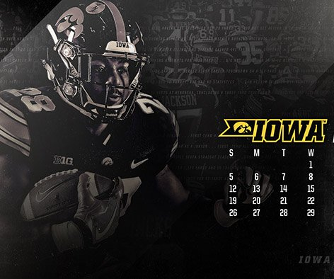 The Iowa Hawkeyes On Twitter Football Wallpaper For The