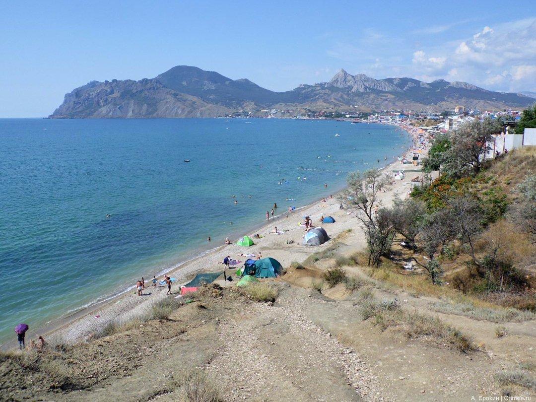 Крым коктебель пляжи фото