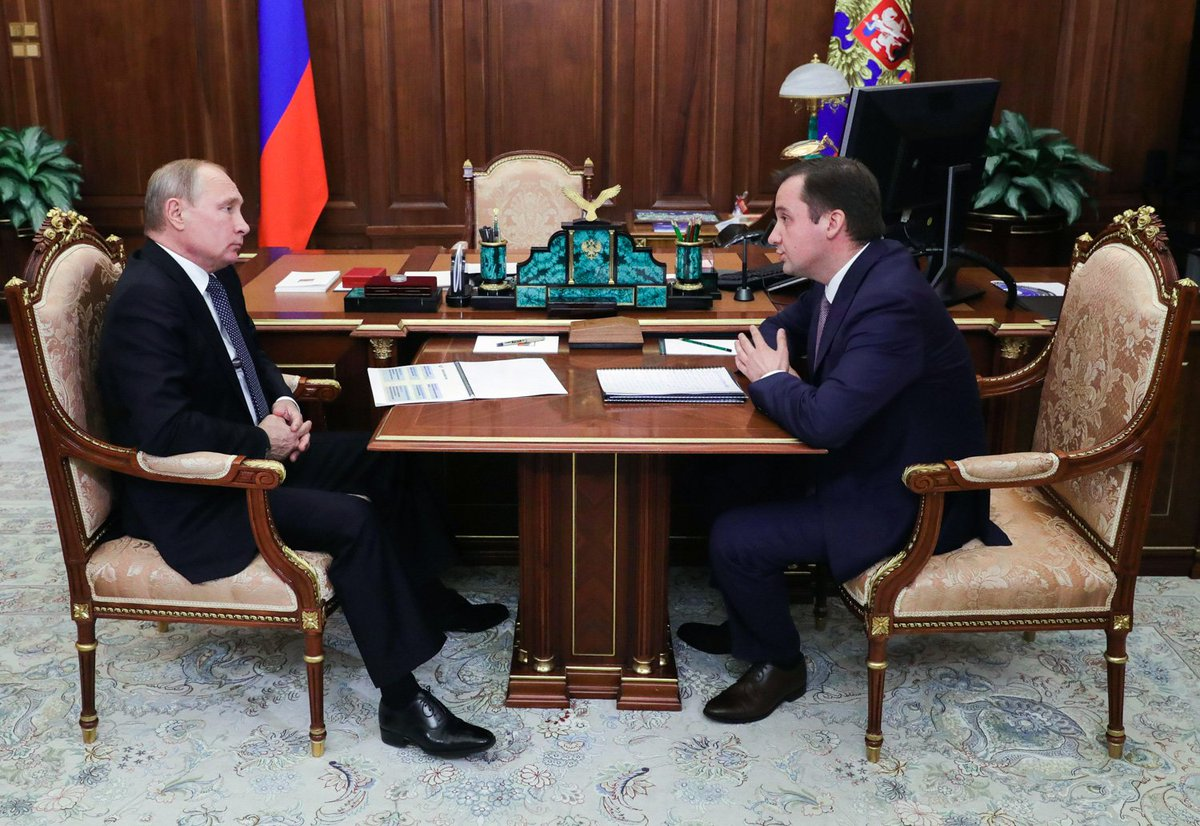 Meeting with Acting Governor of the Nenets Autonomous Area Alexander Tsybulsky bit.ly/2M6bOO4