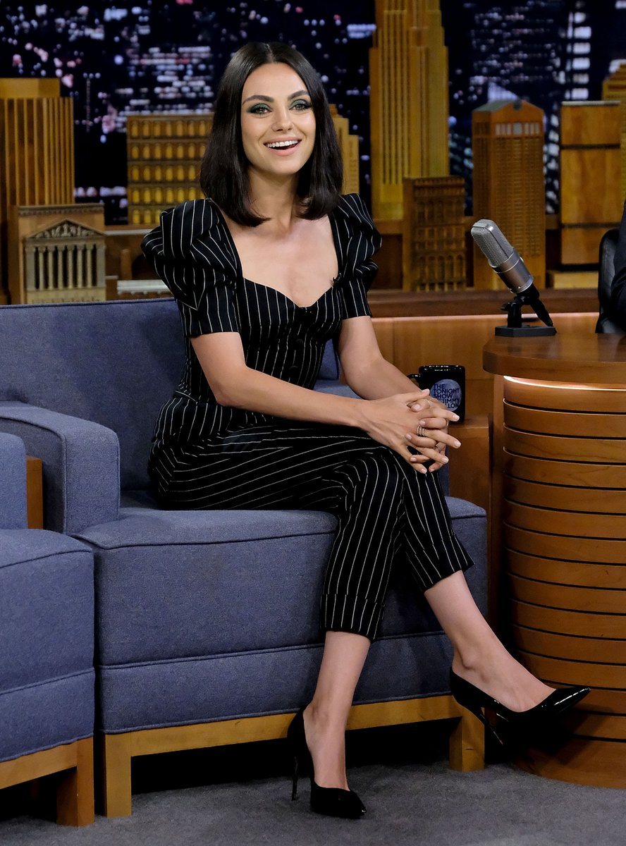 Mila Kunis wearing Dolce&Gabbana at 'The Tonight Show' on July 30th, 2018 in New York City.  #DGWomen #DGCelebs