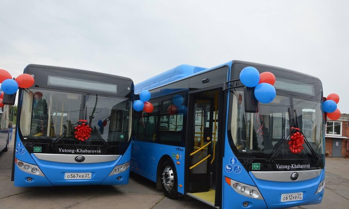 Три новых «газовых» автобуса вышли сегодня на маршрут в Хабаровске
