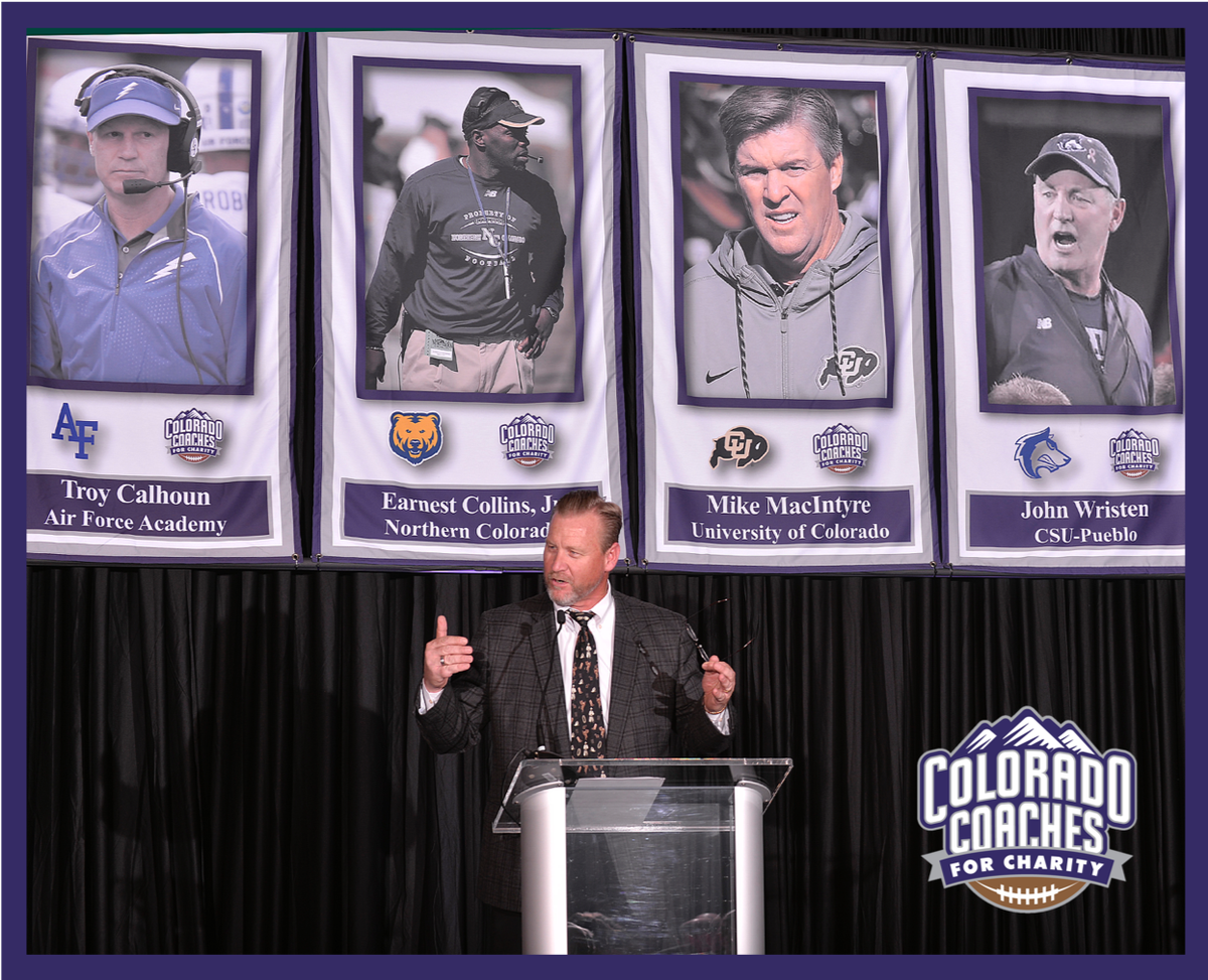 Special thanks to our emcee at Colorado Coaches for Charity, Voice-of-the-Buffs, Mark Johnson!