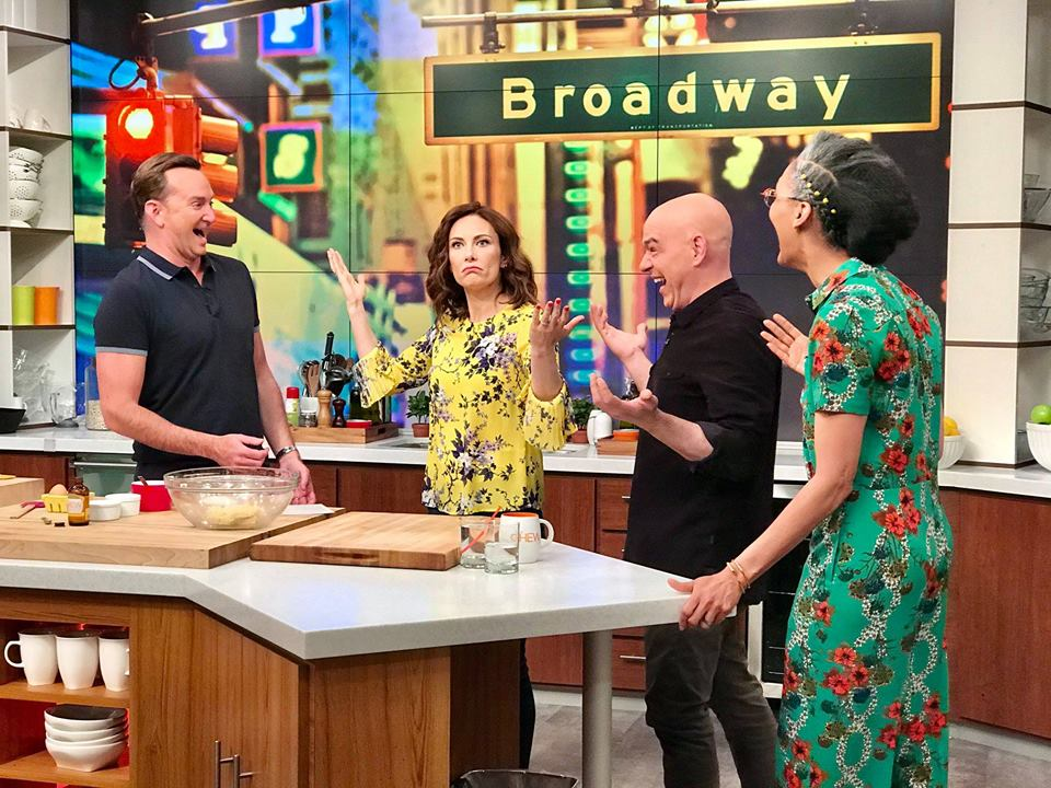 Hello, Clinty! Today we've got an hour devoted to Clinton Kelly and Broadway's best! Don't miss show-stopping recipes – plus a visit from our friend Laura Benanti! #TheChew