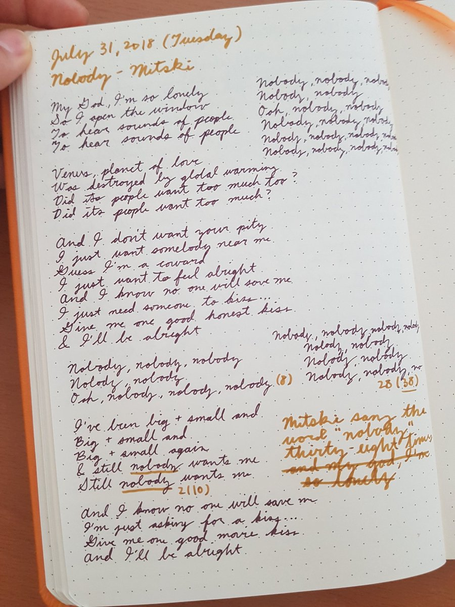 Mia On Twitter Im Gona Write Out The Lyrics To Nobody In My Diary Will Let U Guys Know How Many Times Mitski Says Nobody In The Chorus Mitski breaks down nobody on genius' series 'verified'. twitter