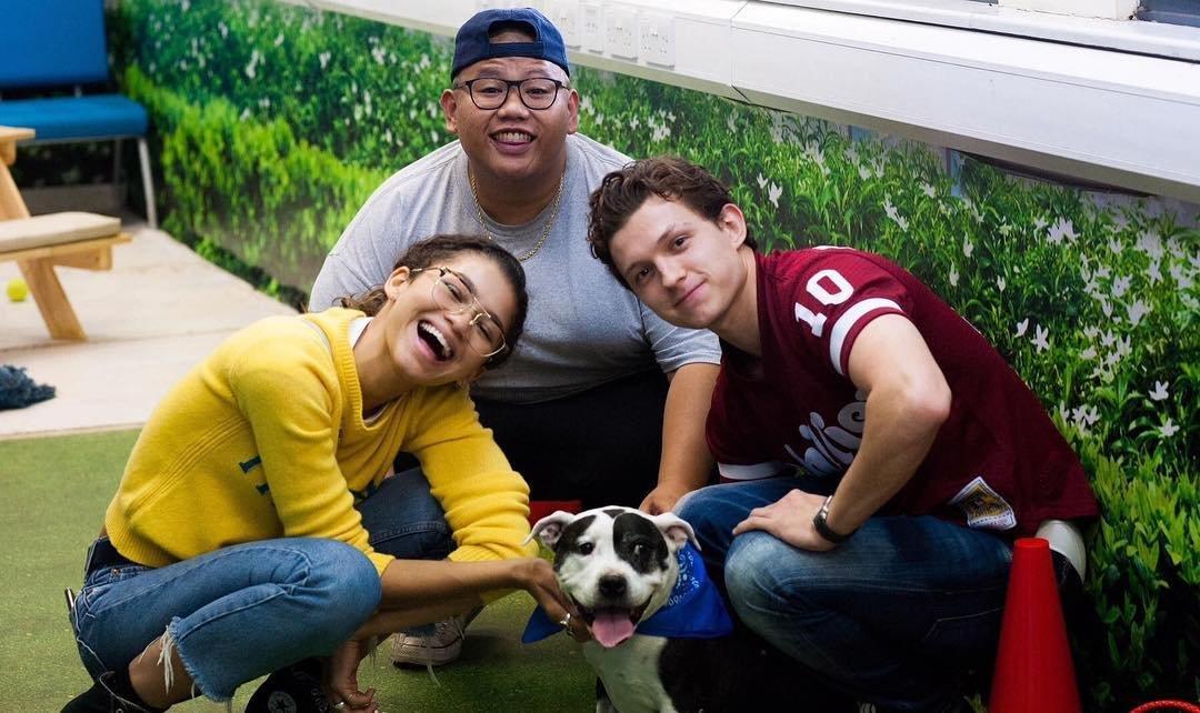 New photo of Tom Holland, Zendaya and Jacob. #Spidermanfarfromhome
