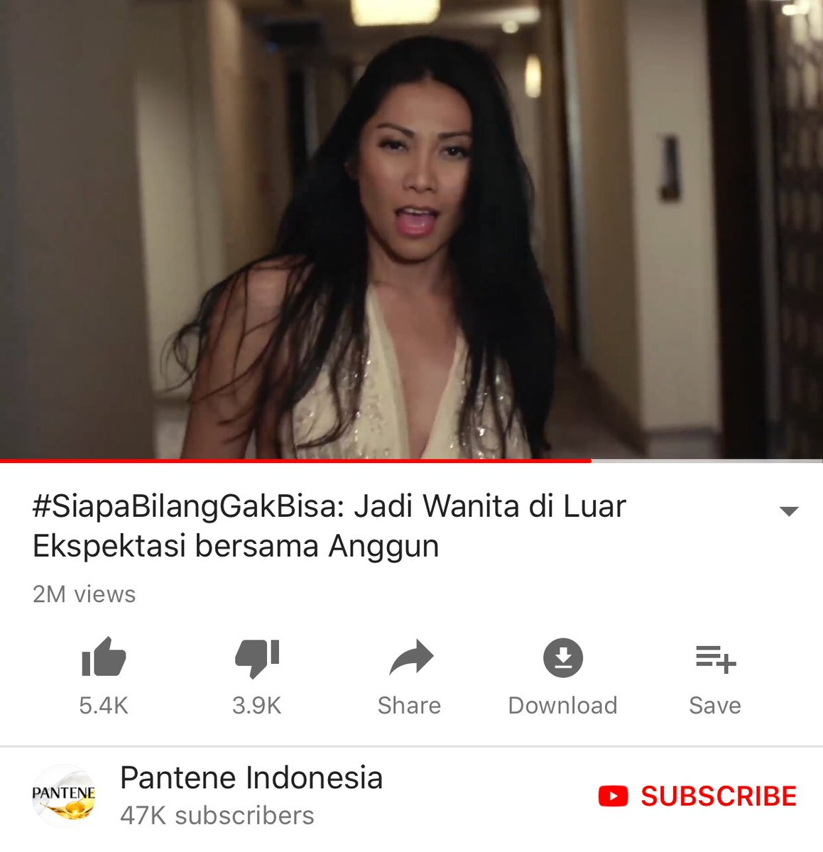 Ecstatic to learn that #SiapaBilangGakBisa the new anthem I wrote for @PanteneID campaign around #WomenEmpowerment has been viewed 2 Million times today. Thank you, terima kasih, Merci 🙏🏽💝