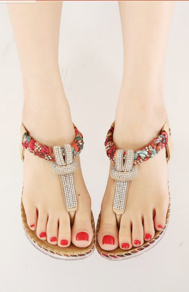 ac48198429f6 ... UMMEWALO Summer Sandals Women T-strap Flip Flops Thong Sandals Designer  Elastic Band Ladies Gladiator Sandal Shoes Zapatos Mujer  womensshoes   sandals ...