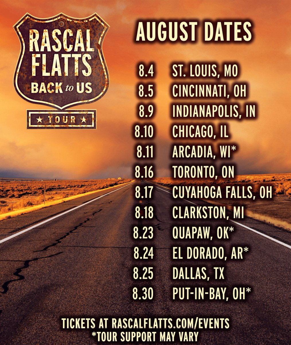 Tomorrow is a new month... But we are still on the same tour! Where will we see you? #BackToUsTour