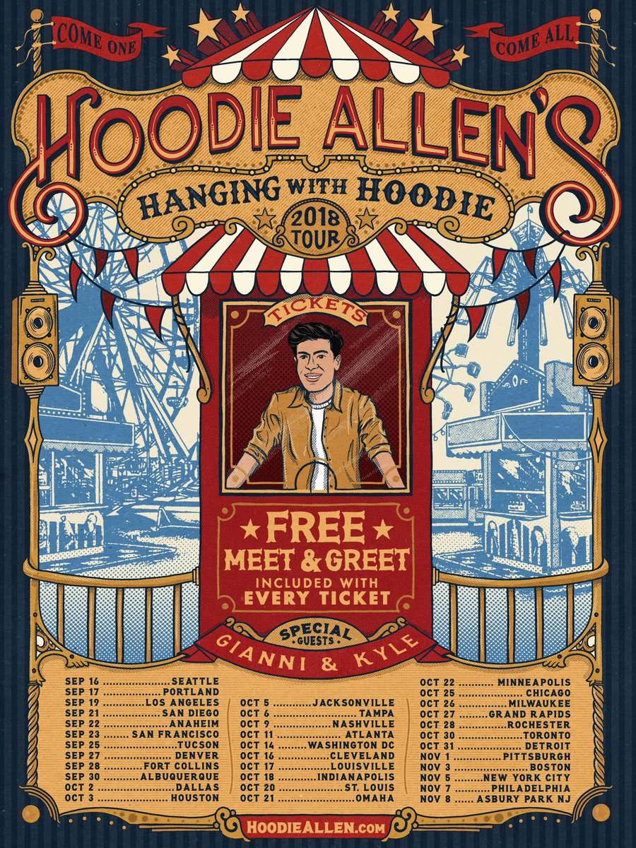 Hoodie allen on twitter hanging with hoodie tour every ticket hoodie allen on twitter hanging with hoodie tour every ticket includes free meet and greet for fans tix on sale friday presale tmrw m4hsunfo