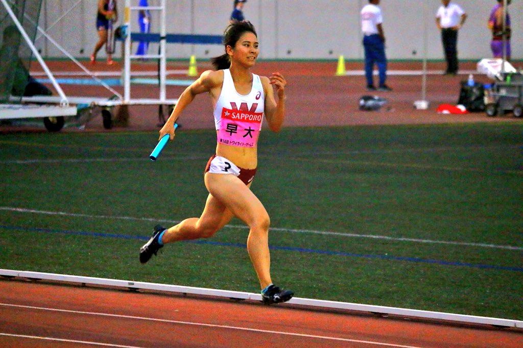 #トワイライトゲームス  女子4×400mR 決勝  早稲田大学 山梨学院大学