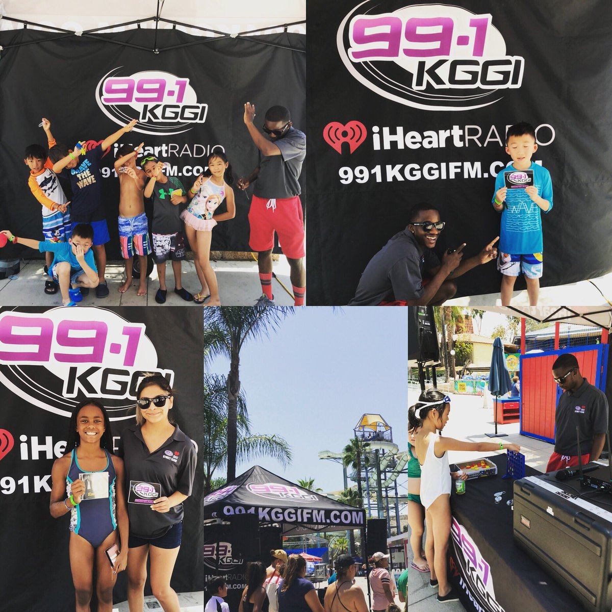 991 KGGI Hey Guys Street Team Is Out Here At Raging WatersHaving Fun In The Sun Giving Away Some Prizes We Will Be Till 2pm So