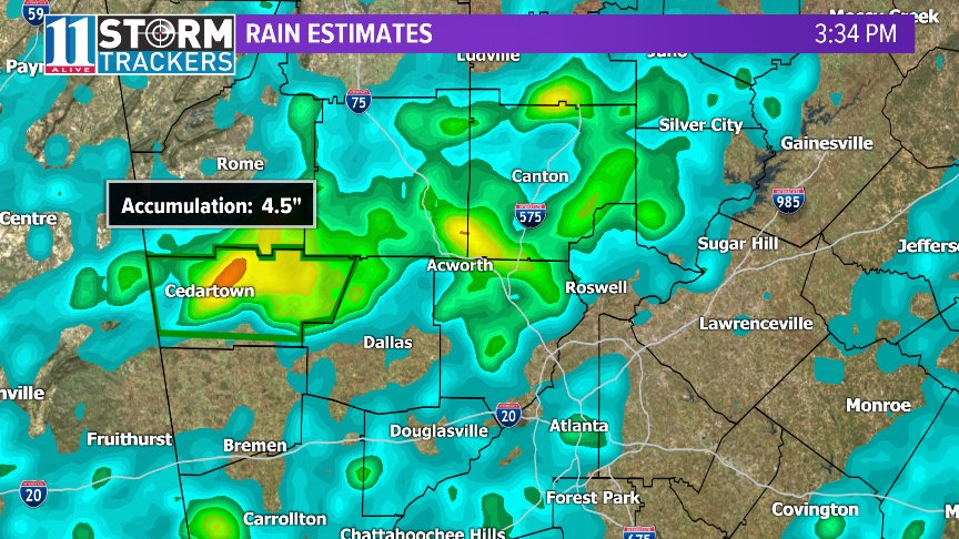 chrisholcomb11alive on twitter wow look at all of that rain in