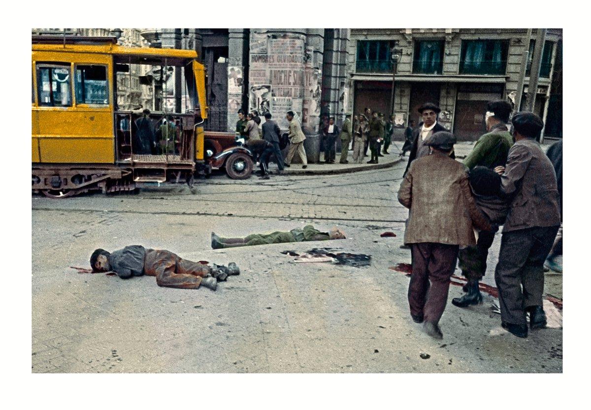 Fotos en color de los bombardeos a Madrid durante la Guerra Civil