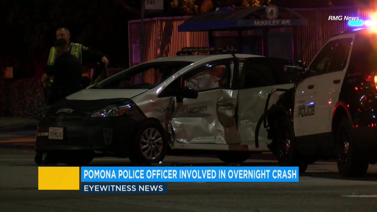 Police officer involved in car crash with civilian vehicle