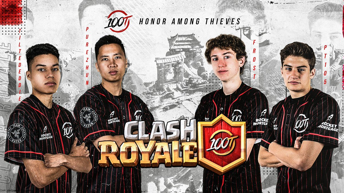 "100 Thieves on Twitter: ""Announcing our official roster for the North  American @ClashRoyale League: @TiltedEddie @PureZhun @PT105CR @Cr_Frost599."