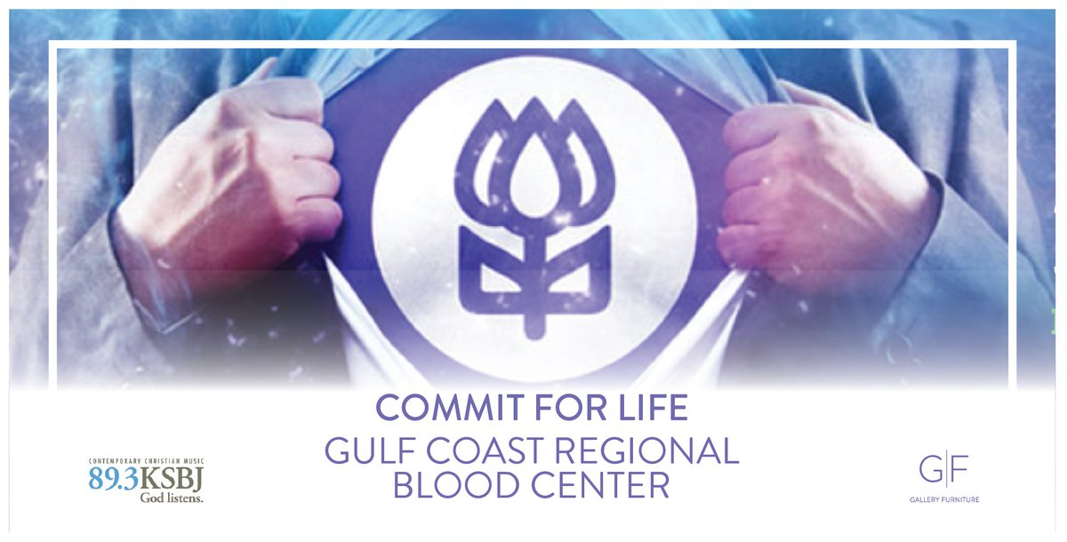 We Are Excited To Collaborate With @KSBJ And The Gulf Coast Regional Blood  Center (@commitforlife) To Help Give The Gift Of Life! We Look Forward To  Seeing ...