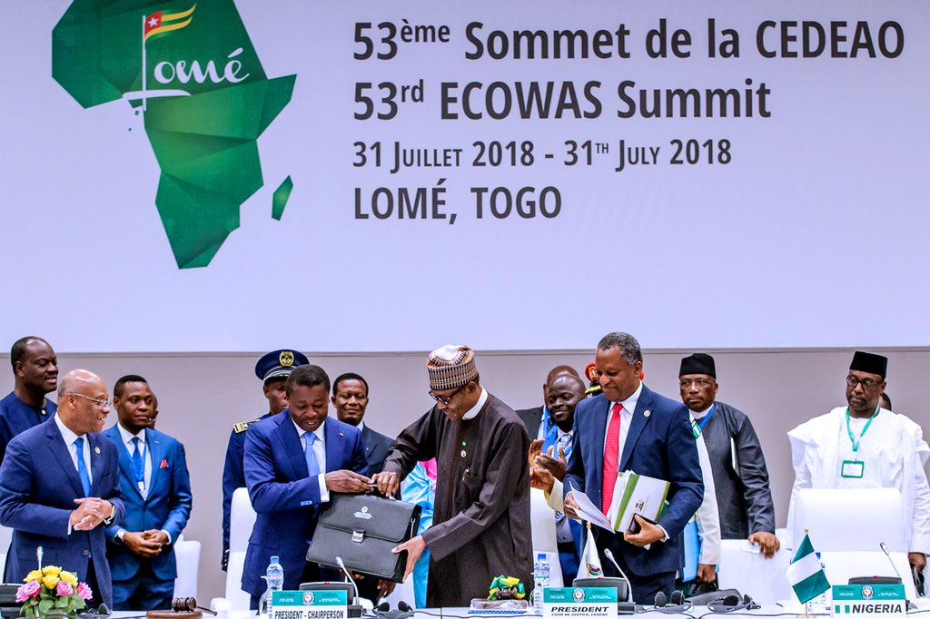 We are looking forward to working with @MBuhari and #ECOWAS on advancing human security in the West Africa region.