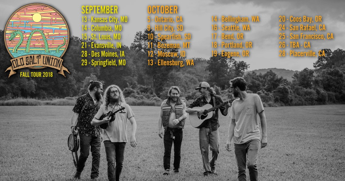 #FallTour Announced! Join us across the #Midwest, #PacNW, and #WestCoast! Excited to play @HFJubilee, @HangtownFest and so much more. Visit our tour dates page for all the details! oldsaltunion.com/Shows