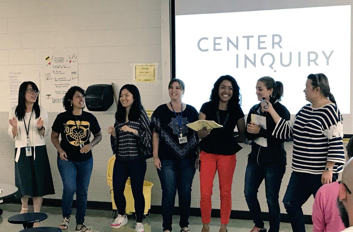 World language teachers @IPS_CFI sing a parody to bring the staff handbook to life! #IPSBack2School