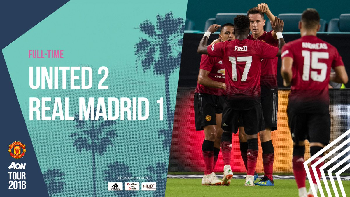 Hasil ICC 2018 Manchester United Vs Real Madrid Tak Ada