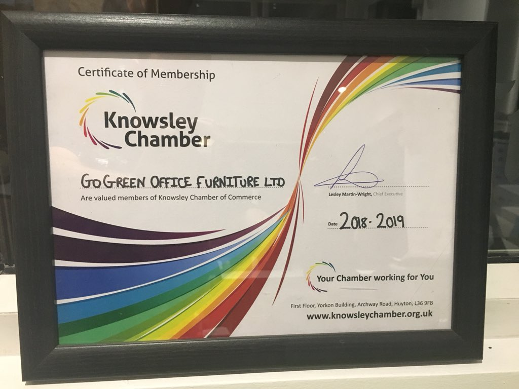 go green office furniture announce that go green office furniture have signed with knowsleychamber for the following year highly recommend any business in knowsley area to shane hanley on twitter