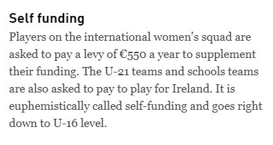 Before any politician tweets congratulations and best of luck to the @irishhockey team in the #HWC2018 they should note that the women are 'self-funding'.  Our international heroes are paying to represent Ireland on the world stage.  Incredible and awful. https://t.co/n6bqLrlxoY