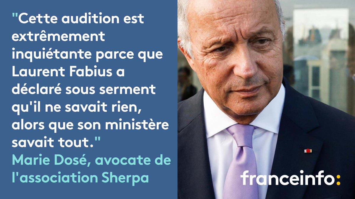 Laurent Fabius entendu par les juges dans le dossier Lafarge : 'Cette audition est extrêmement inquiétante'  https://t.co/nlPxvNzvbe