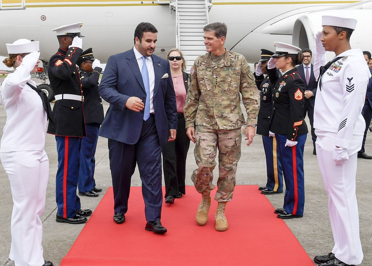 .@kbsalsaud His Royal Highness Prince Khalid bin Salman, Ambassador of the Kingdom of #SaudiArabia to the U.S., met with Gen. Votel to discuss bilateral cooperation, mutual security, combating extremism, and efforts in the fight against #terrorism. @USEmbassy@Mod_Gov_SaRiyadh