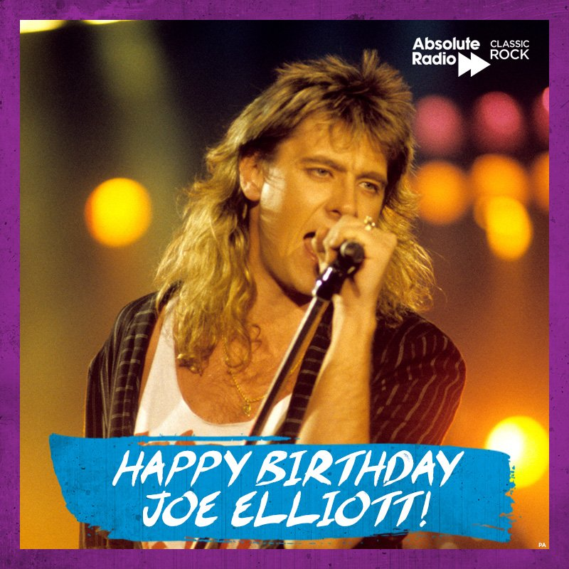 Do you wanna get rocked? Happy birthday to Joe Elliott!  What\s your favourite Def Lep tune?