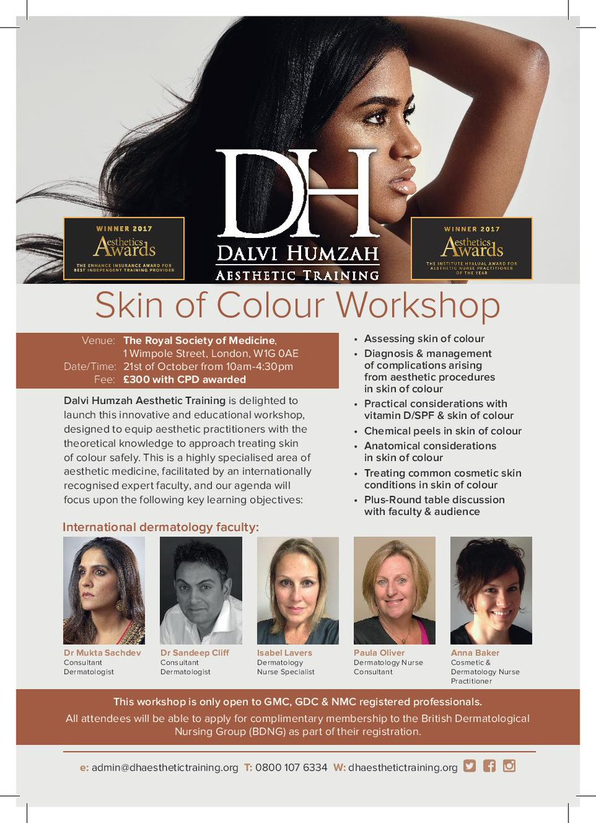 Skin of Colour Workshop Cosmetic Training Course London