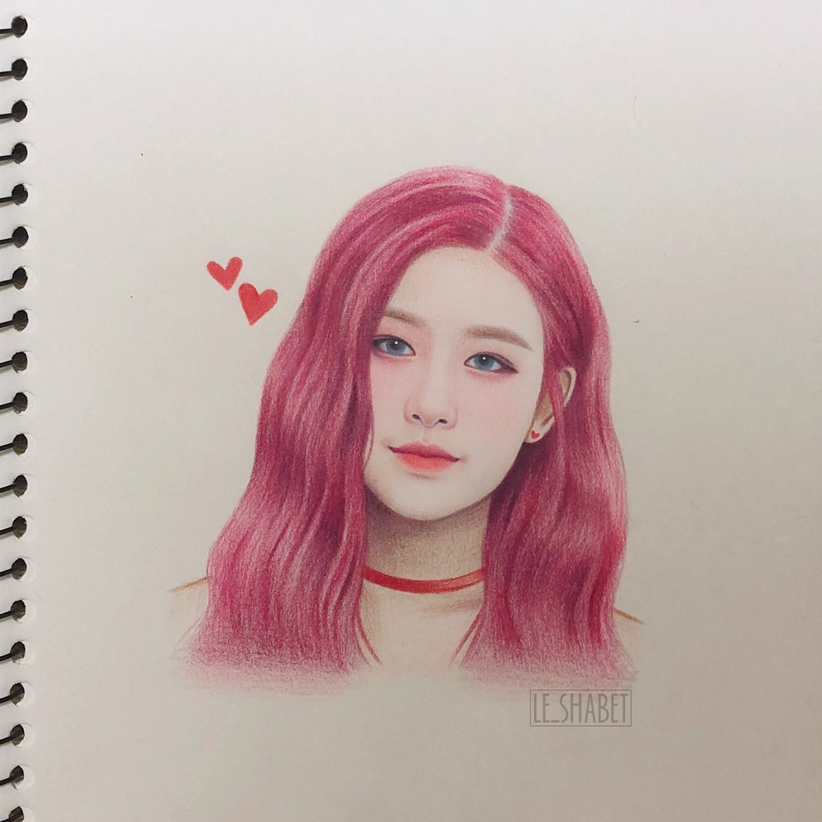 My fan art of Róé, rosé pinky hair 🌷🌷💖  #blackpink #rosé⁠ ⁠⁠ ⁠ #blackpinkrosé #블랙핑크 #로제 #lisafanart #blackpinkfanart