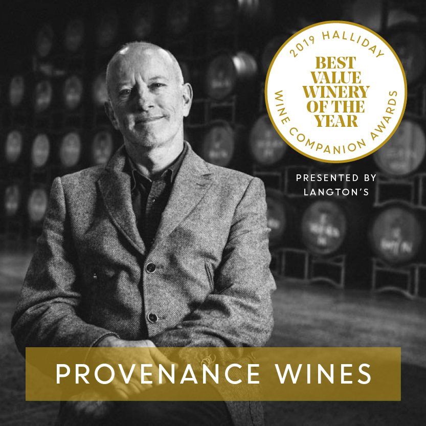 @ProvenanceWines is named Best Value Winery at the 2019 Halliday Wine Companion Awards, presented by @LangtonsWine. #hallidaywinecompanionawards2019 #jameshalliday #hallidaywinecompanion2019 #winecompanion #wineawards #topaustralianwines