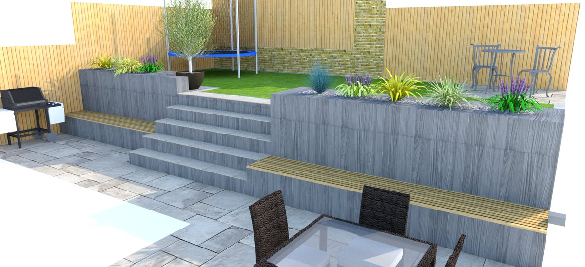... This Garden Had A Big Drain Cover That Dictated Levels And Had To Be  Worked Around, But We Were Up To The Challenge! What Do You Think?