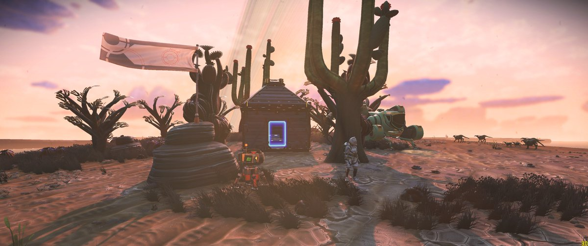 """I found a pretty sweet planet, named it """"Basically Arizona"""" and built a one room house on a floating island there ???? https://t.co/rIdeZ8Q0Cd"""