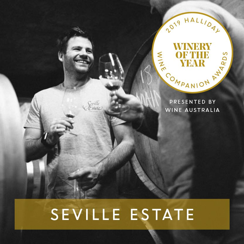 @Seville_Estate is named Winery of the Year at the 2019 Halliday Wine Companion Awards, presented by @Wine_Australia. #hallidaywinecompanionawards2019 #jameshalliday #hallidaywinecompanion2019 #winecompanion #wineawards #topaustralianwines