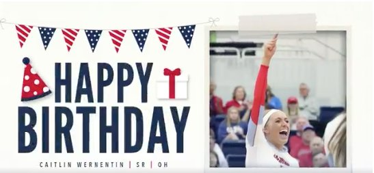 Happy Birthday to Senior outside hitter @catwern5! Enjoy your special day! #BirthdayReb #HottyToddy